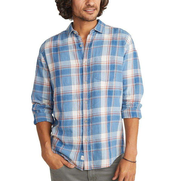 Country Club Prep Indigo Plaid / S