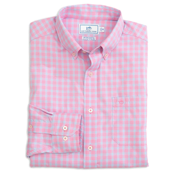 Astern Check Intercoastal Performance Shirt by Southern Tide