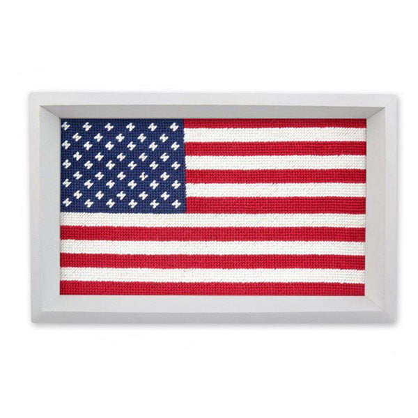 Big American Flag Needlepoint Valet Tray by Smathers & Branson