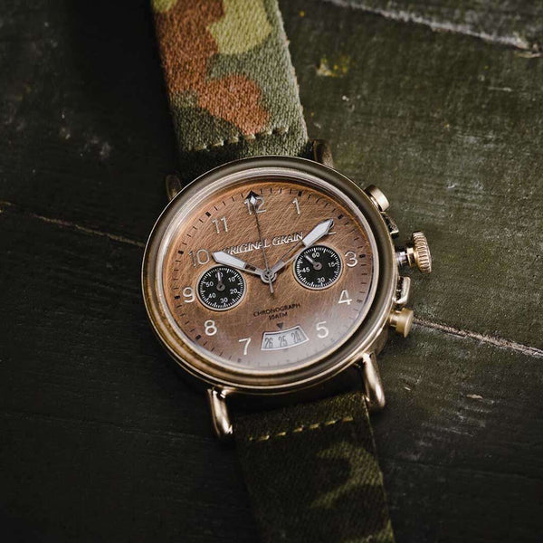 Original Grain Military Barrel General Watch by Original Grain