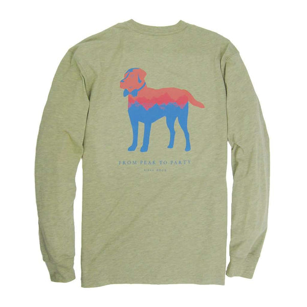 Southern Proper Long Sleeve Peak Party Animal Tee in Heather Sage Green