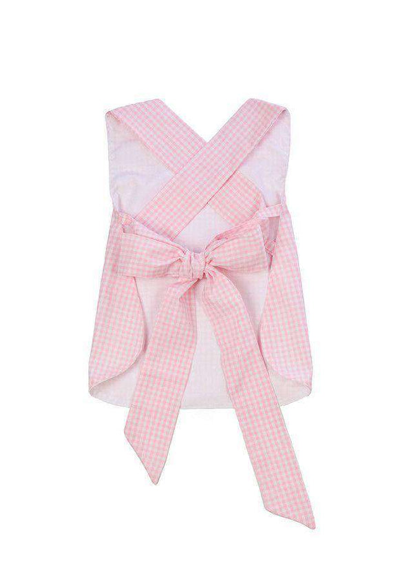 Betsey Bow Back Bloomer Set in Pink Gingham by The Beaufort Bonnet Company
