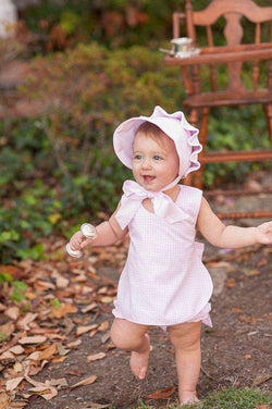 Baby,Kids - Betsey Bow Back Bloomer Set In Pink Gingham By The Beaufort Bonnet Company