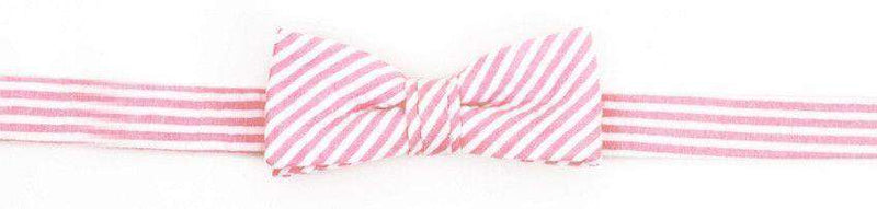 Baby,Kids - Boy's Bow Tie In Hot Pink Seersucker Stripe By High Cotton