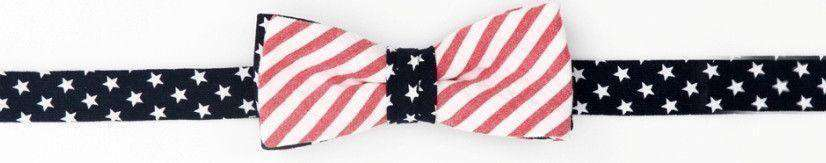Baby,Kids - Boy's Bow Tie In Stars And Stripes By High Cotton