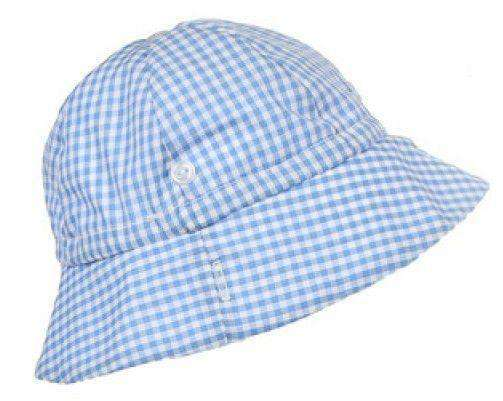 Bucket Hat in Blue Gingham by The Beaufort Bonnet Company