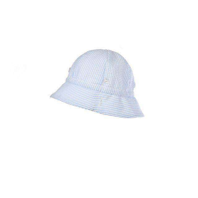 b160f103b7d Bucket Hat in Blue Seersucker by The Beaufort Bonnet Company ...