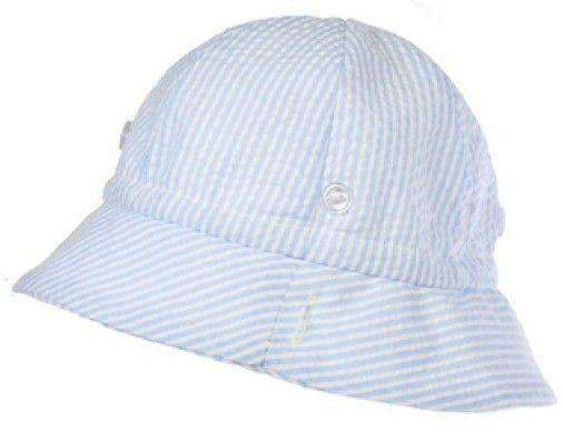 Bucket Hat in Blue Seersucker by The Beaufort Bonnet Company