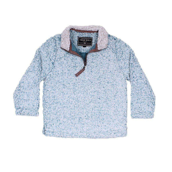 Baby,Kids - CHILD'S Frosty Tip 1/4 Zip Pullover In Aqua By True Grit