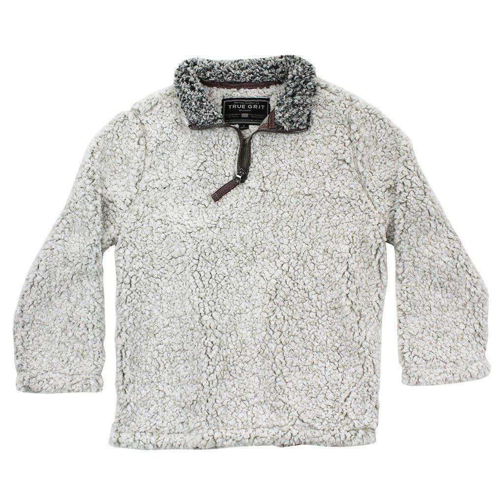 True Grit Youth Frosty Tip 1 4 Zip Pullover In Putty
