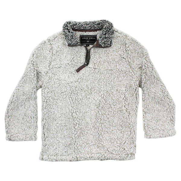 Baby,Kids - CHILD'S Frosty Tip 1/4 Zip Pullover In Putty By True Grit