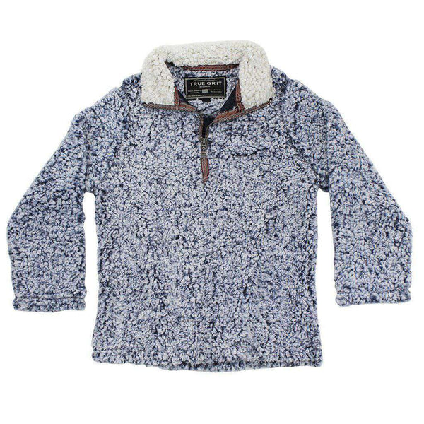 Baby,Kids - CHILD'S Frosty Tip 1/4 Zip Pullover In Vintage Blue By True Grit