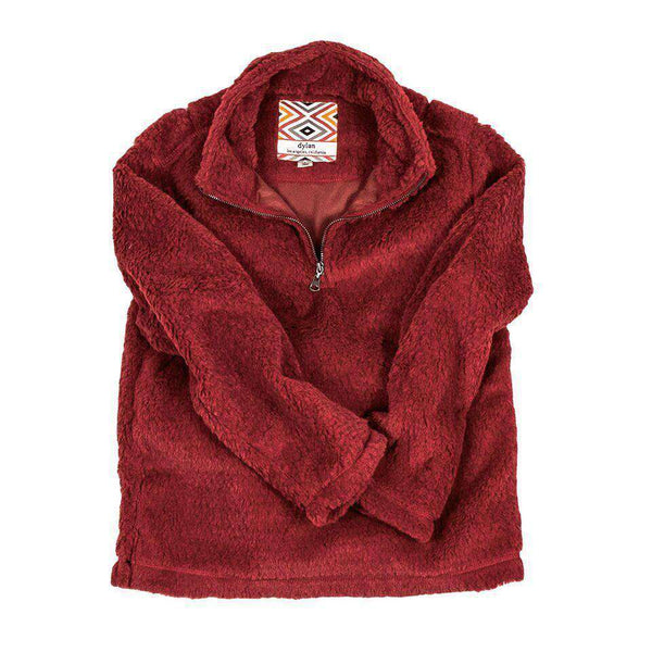 Baby,Kids - CHILD'S Silky Pile Pullover 1/4 Zip In Red By True Grit