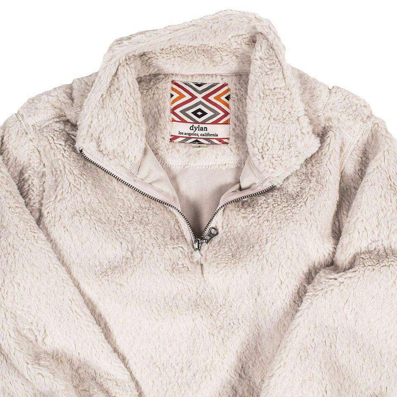 CHILD'S Silky Pile Pullover 1/4 Zip in Winter White by True Grit - FINAL SALE