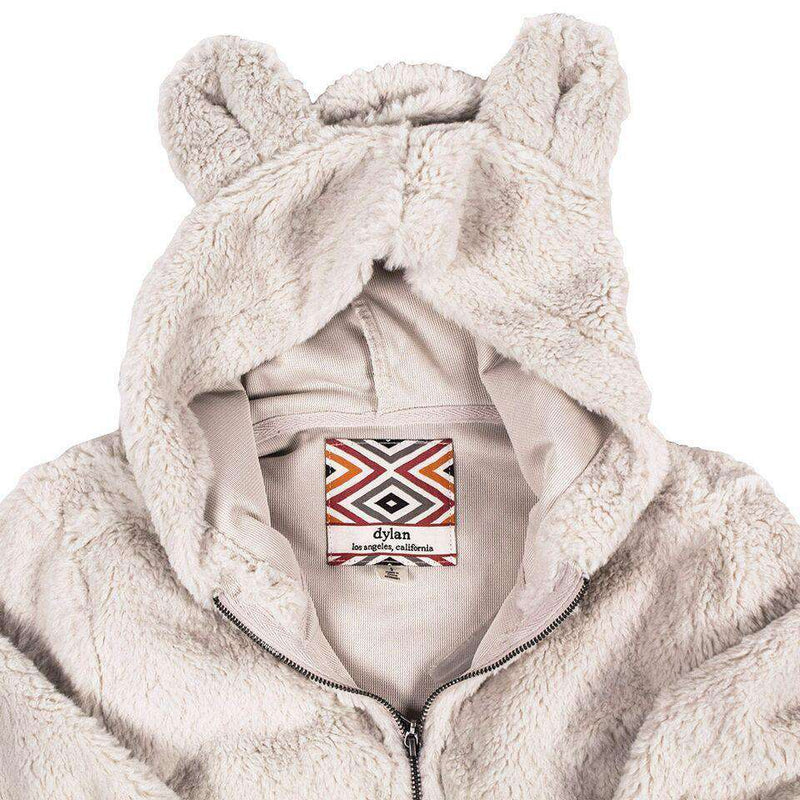 CHILD'S Silky Pile Pullover Teddy Bear in Winter White by True Grit