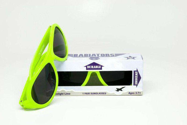 Children's Sunglasses in Neon Limelight Green by Babiators