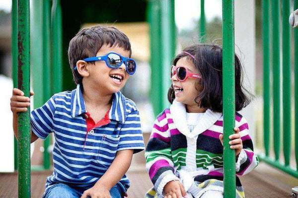 Children's Sunglasses in Pink and Black by Babiators