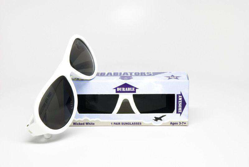 Children's Sunglasses in Wicked White by Babiators