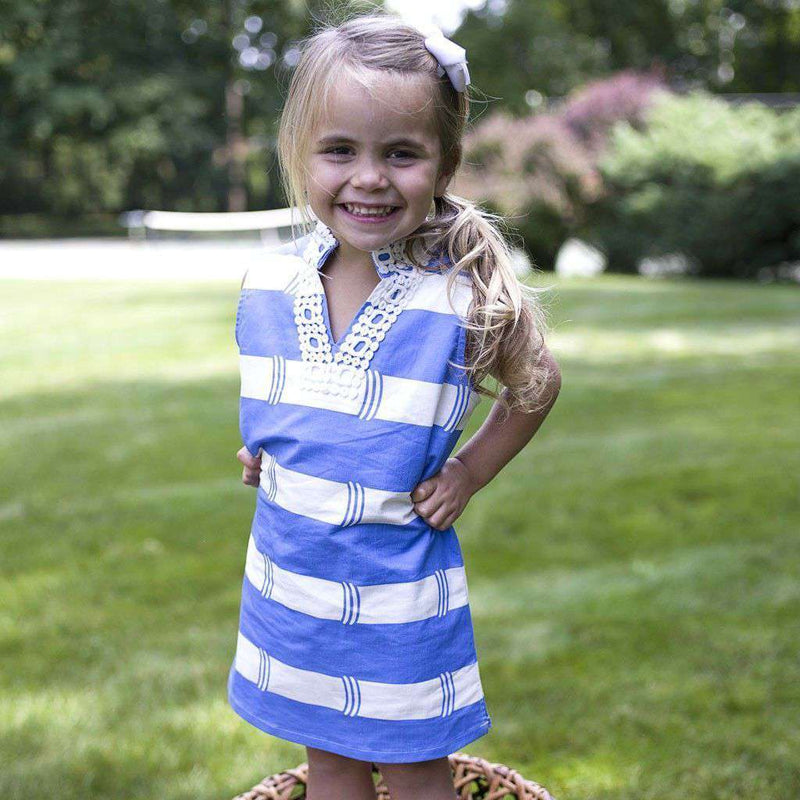 Baby,Kids - Colony Chic Little Ladies Sleeveless Dress In Blue By Sail To Sable - FINAL SALE