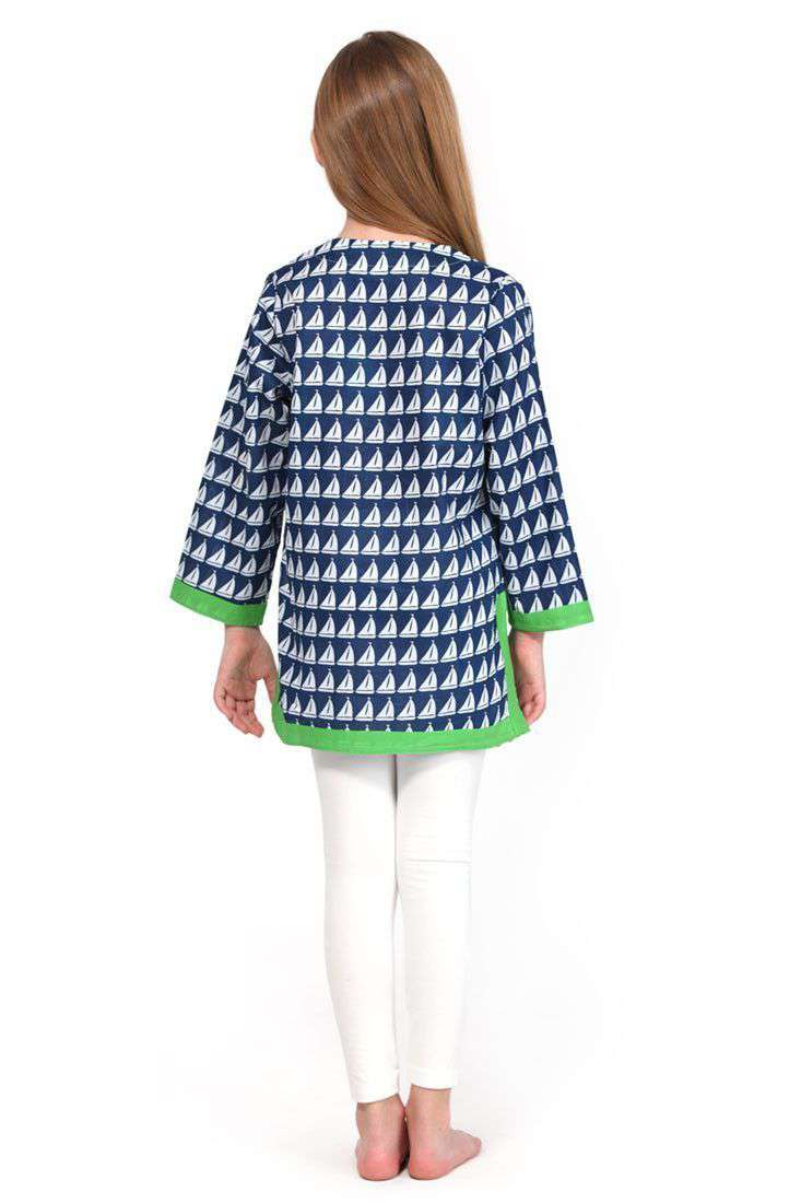 Girl's Annapolis Cotton Tunic in Navy by Malabar Bay - FINAL SALE