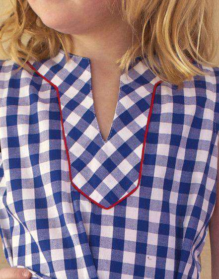 Girl's Tunic Dress in Blue Gingham by Kayce Hughes