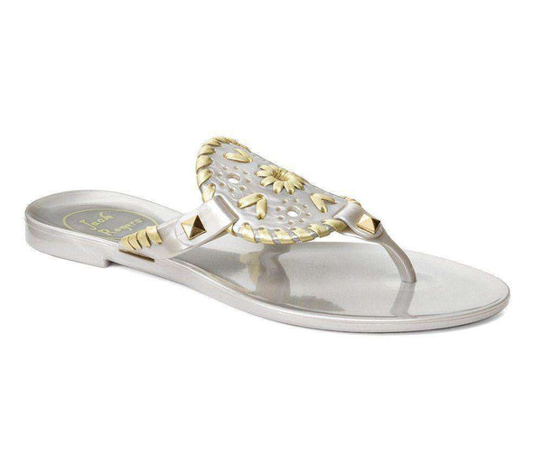 Jack Rogers Miss Georgica Jelly Sandal In Silver Gold