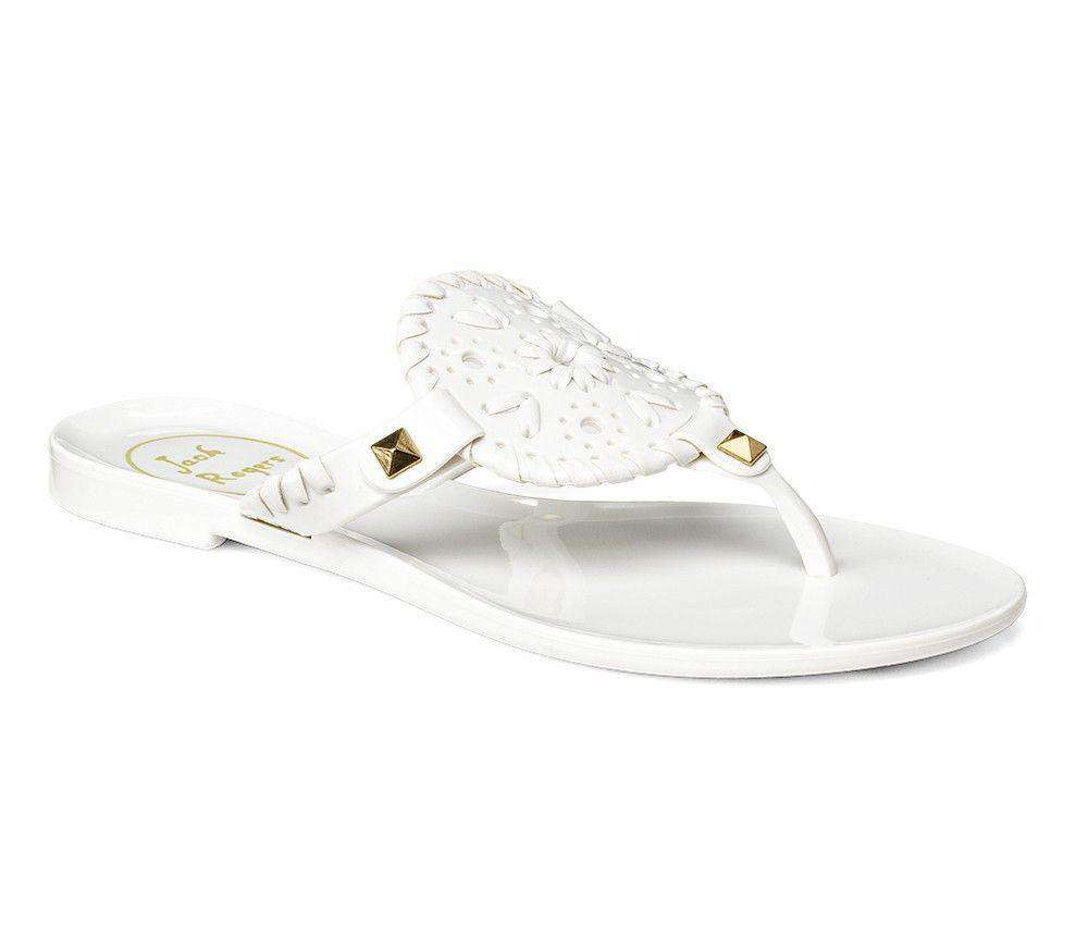 224c3702b Jack Rogers Miss Georgica Jelly Sandal in White – Country Club Prep