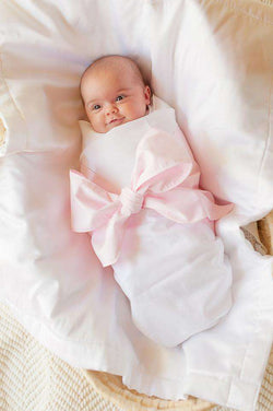 f4ec5eb91c946 Baby,Kids - Sweet Bow Swaddle Blanket In Plantation Pink By The Beaufort  Bonnet Company