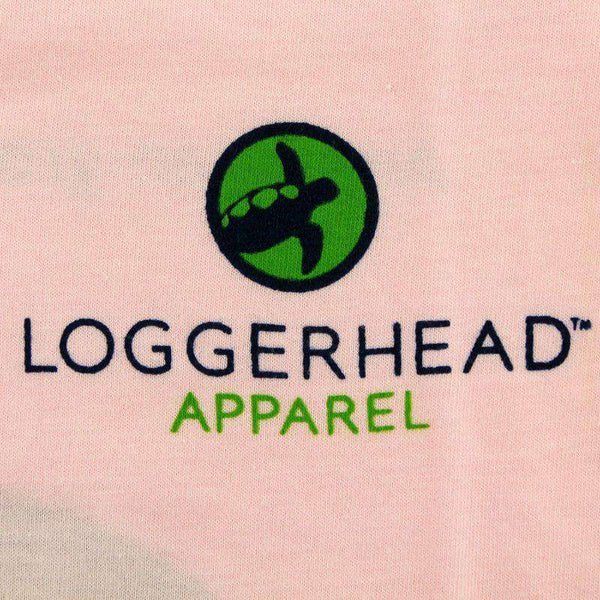 Youth Circle Logo Tee in Pastel Pink by Loggerhead Apparel - FINAL SALE