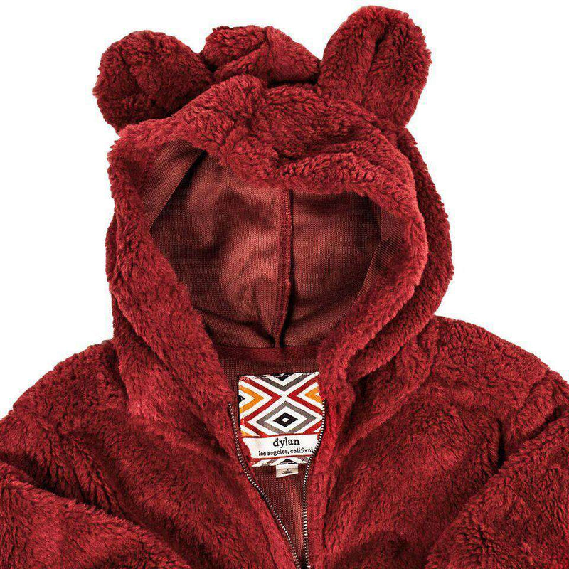 Baby,Kids - YOUTH Silky Pile Pullover Teddy Bear In Red By True Grit