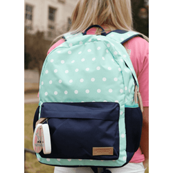 Bags - Backpack In Mint Dots By Jadelynn Brooke
