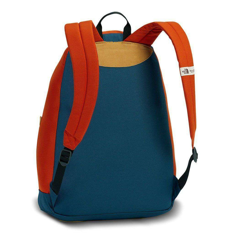 Berkeley Backpack in Tibetan Orange and Monterey Blue by The North Face