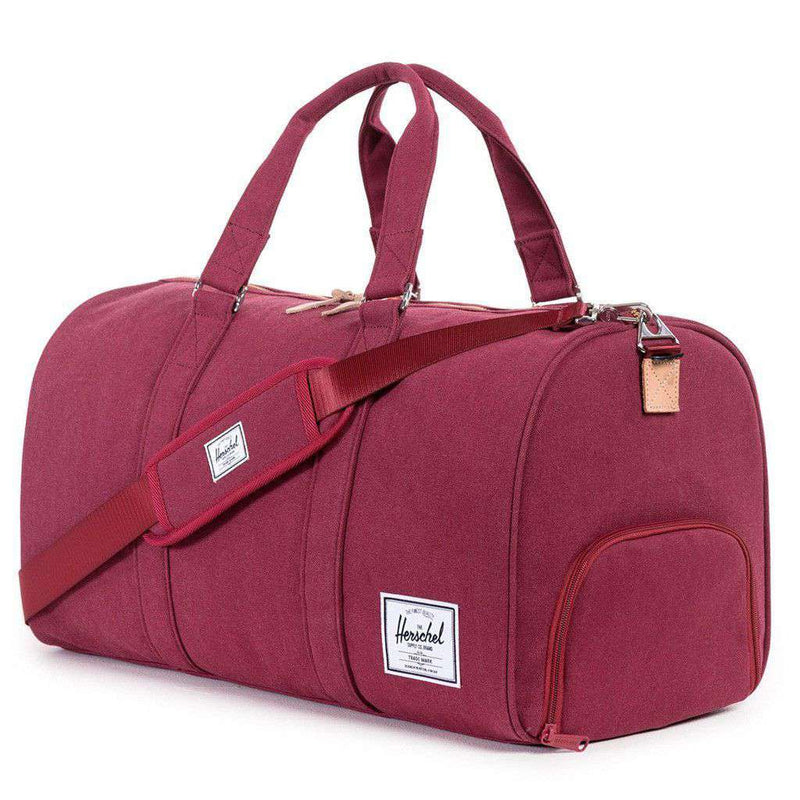 Bags - Cotton Canvas Novel Duffle In Windsor Wine By Herschel Supply Co.