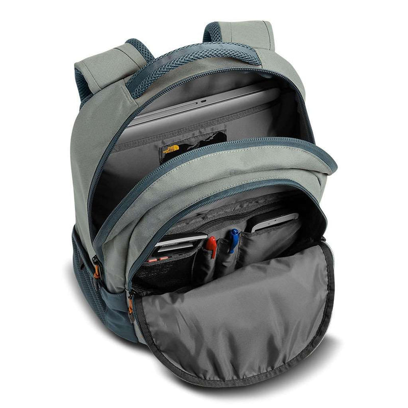 Jester Backpack in Sedona Sage Grey and Conquer Blue by The North Face