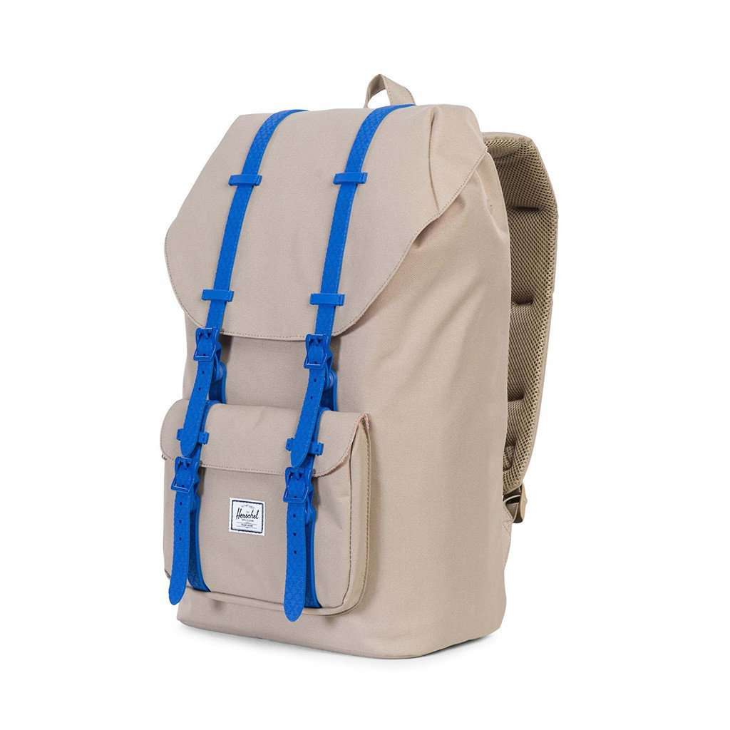 96bce6b686a Little America Backpack in Brindle with Cobalt Rubber by Herschel Supply Co.