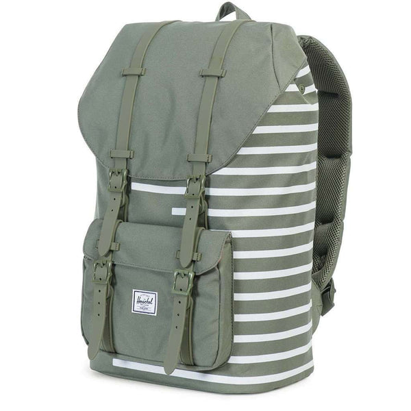 615a236691c Bags - Little America Backpack In Deep Lichen Offset Stripe By Herschel  Supply Co.