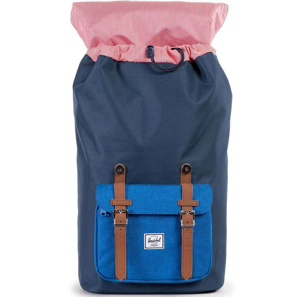 Little America Backpack in Navy and Cobalt Crosshatch by Herschel Supply Co.