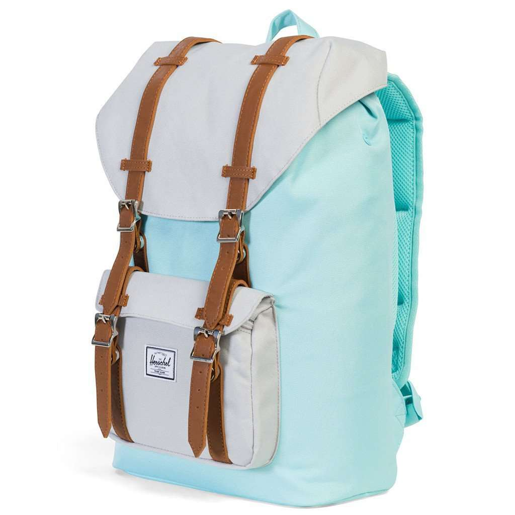 9562836022f Little America Mid Volume Backpack in Blue Tint and Glacier Grey by Herschel  Supply Co.