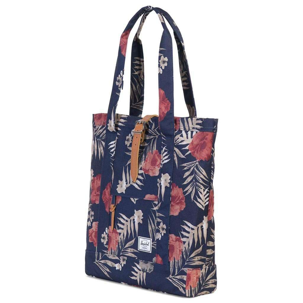 8c17f436ccaf Herschel Supply Co. Market Tote in Peacoat Floria – Country Club Prep