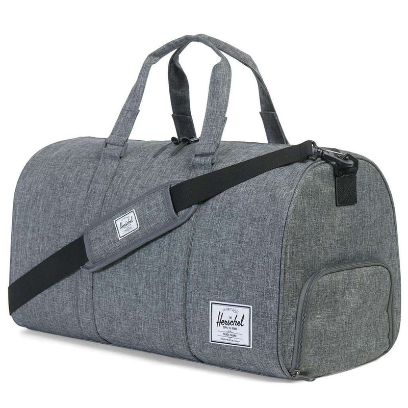 Novel Duffle Bag in Raven Crosshatch by Herschel Supply Co.