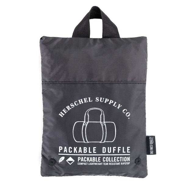 Packable Duffle in Black by Herschel Supply Co. - FINAL SALE