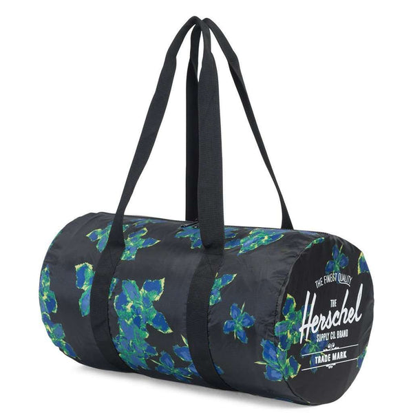 Packable Duffle in Neon Floral by Herschel Supply Co. - FINAL SALE