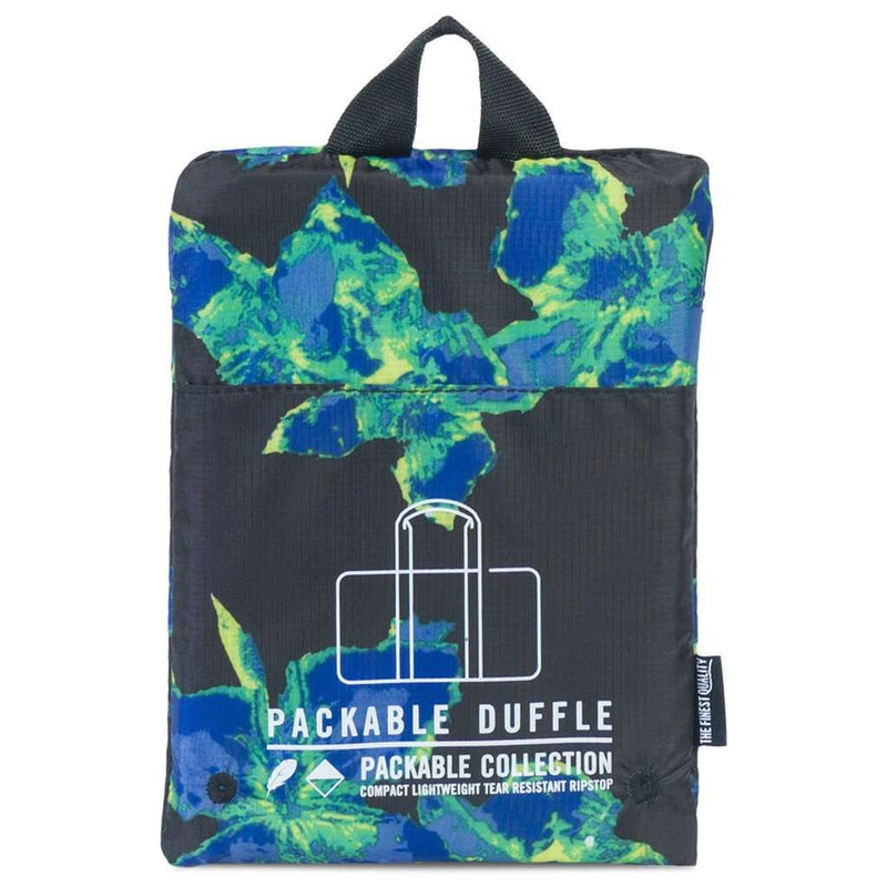 Bags - Packable Duffle In Neon Floral By Herschel Supply Co. - FINAL SALE