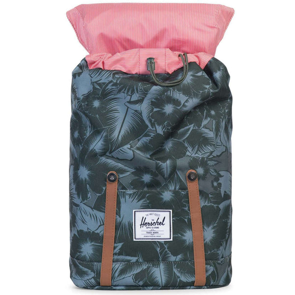 Retreat Backpack in Jungle Floral Green by Herschel Supply Co.