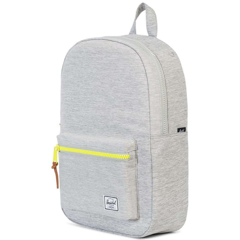 Settlement Mid Volume Backpack in Light Grey Crosshatch by Herschel Supply Co. - FINAL SALE