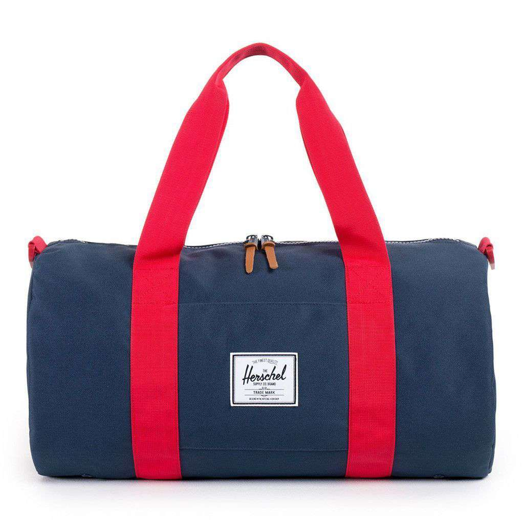 Bags - Sutton Mid Volume Duffle Bag In Navy And Red By Herschel Supply Co.