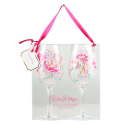 Bar & Glassware - Acrylic Wine Glasses In Jellies Be Jammin' By Lilly Pulitzer
