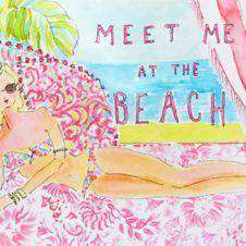Bar & Glassware - Acrylic Wine Glasses In Meet Me At The Beach By Lilly Pulitzer