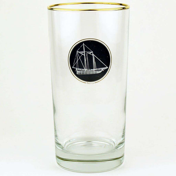 Bar & Glassware - America's Cup High Ball Glasses By Richard E. Bishop