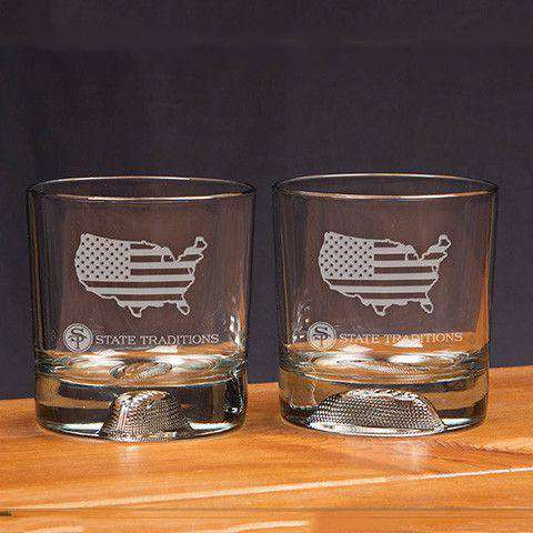 Bar & Glassware - America Traditional Glassware (Set Of 2) By State Traditions
